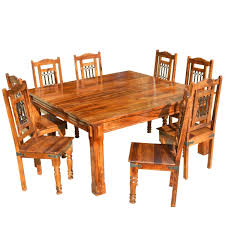 rustic square dining table solid wood rustic square dining table chairs set