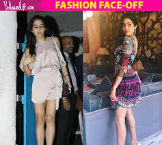 fashion face off jhanvi kapoor in a dress or sara ali khan in a