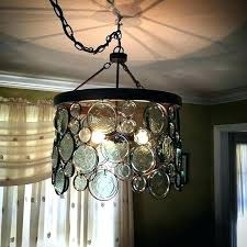 Candle Chandelier Pottery Barn Recycled Glass Chandelier Motor1usa