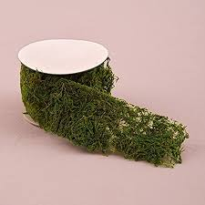 roll of faux moss ribbon kitchen dining