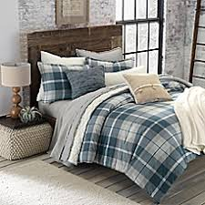 Eddie Bauer Rugged Plaid Comforter Set Lodge Style Bedding U0026 Bedding Sets Lodge Curtains Bed Bath U0026 Beyond
