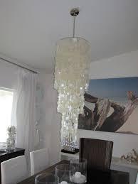 White Shell Chandelier Dining Room Design Contemporary Capiz Shell Chandelier With White