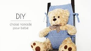 siege nomade bébé chaise nomade pour bébé diy couture par gerfault