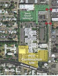 Pcc Map Fencing Closes Campus Parking Lots As Southeast Center