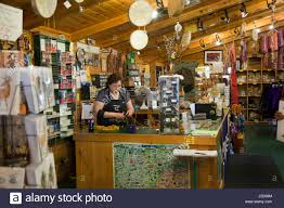interior of iroquois crafts gift shop called iroqrafts gallery