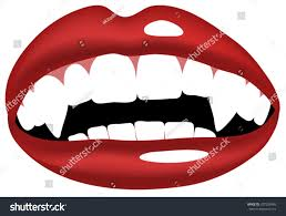 vector illustration vampire smiling mouth vampire stock vector