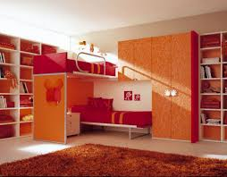 Red Bedroom Ideas by Girls Bedroom Fair Picture Of Orange Red Bedroom Decoration