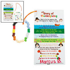 religious thanksgiving card and bracelet craft for