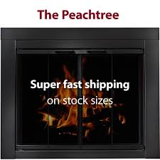 peachtree bi fold glass doors for masonry fireplaces brick anew