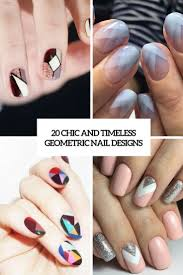 20 chic and timeless geometric nail designs styleoholic