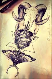 tatto ideas 2017 ram skull dotwork human skull and death moth