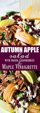 autumn apple salad with a maple vinaigrette fabulous fall food