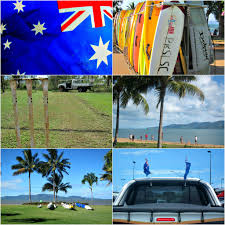 Cricket Flags Australia Day In Townsville Budget Travel Talk