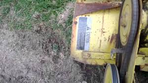 1974 john deere 110 tilling with a 31 tiller youtube