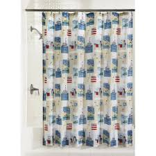 seaside summer fabric shower curtain christmas tree shops andthat