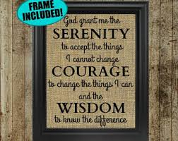 serenity prayer picture frame serenity prayer etsy