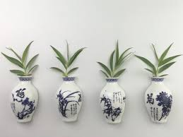 Pineapple Decorations For Kitchen by Amazon Com Fridge Magnets Grow Plants In Oriental Ceramics Vase