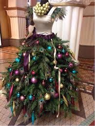 christmas tree dress 7 ways florists use mannequins for decor