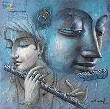 saatchi krishna acrylic painting on canvas by ananda das