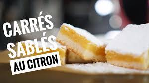 tarte au citron meringuée hervé cuisine carrés sablés citron lemon square ma recette facile