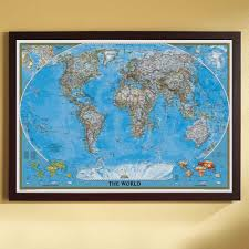 How To Frame A Print Framed Wall Maps Personalized U0026 Customizable National