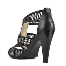 michael by michael kors berkley t strap mesh heeled sandal women
