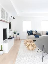 Living Room  Collection Ideas White Living Room And Blue Pillow - White wall decorations living room