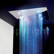 rio shower head with lights 600mm square cool stuff pinterest