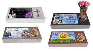 flat headstones for markers