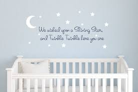 Vinyl Wall Decals For Nursery Twinkle Twinkle Wall Decal Nursery Vinyl Decal Set