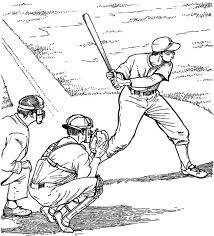 coloring pages baseball coloring