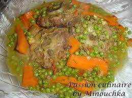 cuisine marocaine tajine agneau tajine d agneau aux carottes et petits pois culinaire by