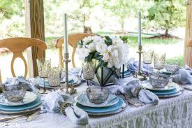 Summer Table Decorations Seaside Decor Setting A Summer Table With Coastal Dinnerware
