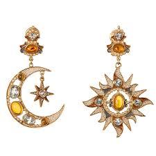percossi papi earrings diego percossi papi sun and moon earrings dpp 61 lovemyswag