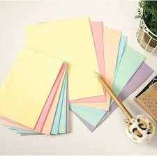 rainbow pastel color letter set 12sh writing stationery paper