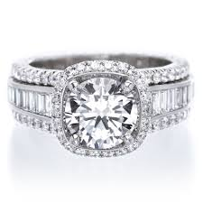 baguette diamond band platinum diamond halo engagement ring with graduated baguette
