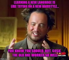 Learning Meme - learning a new language imgflip