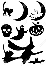 halloweenclipart vector illustration of halloween clip art images in silhouette