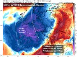 Map Of Southern Spain Cold Push Into W Cntrl Europe Over The Next Few Days Severe