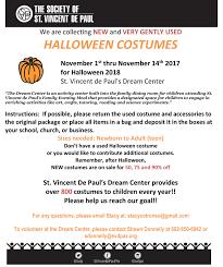 halloween costume drive blessed sacrament roman catholic parish