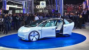 volkswagen vw volkswagen i d electric car concept at the 2016 paris motor show