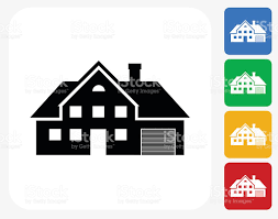 Home Graphic Design Business House Icon Flat Graphic Design Stock Vector Art 486511748 Istock
