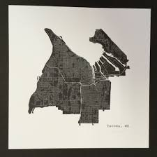 Detailed Map Of Washington State by We Love This Minimal Street Map Of Tacoma Washington By Local