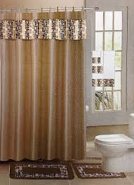 Bathroom Shower Curtain And Rug Set Curtains Burgundy And Gold Shower Curtain Luxury 18 Pc Bath Rug
