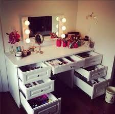 makeup vanity desk with storage accessories