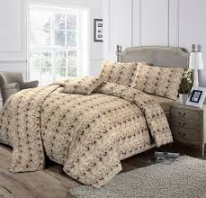 Taupe Duvet Tiffany Wool Look Pattern Cotton Blend Beige Taupe Duvet Cover