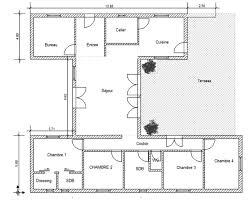 plan maison cuisine ouverte plan de maison en u ouvert cuisine plans pratiques et with