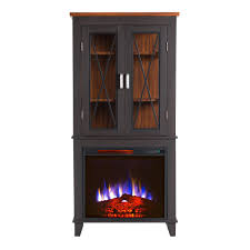 infrared black electric fireplaces fireplaces the home depot