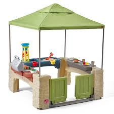 amazon com step2 all around playtime patio with canopy playhouse