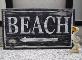 Ginger Home Decor by Beach Arrow Wood Hand Painted Sign For Beach Cottage Or Home Decor